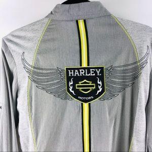Harley Davidson button down shirt blouse